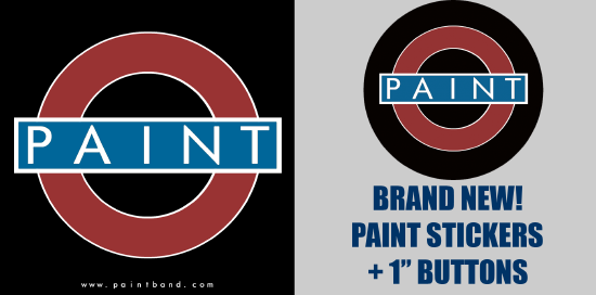 Paint Stickers and Buttons -- Brand New!